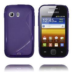 S-Line Transparent (Lila) Samsung Galaxy Y-Skydd