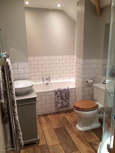 Bathroom #metrotiles #grey