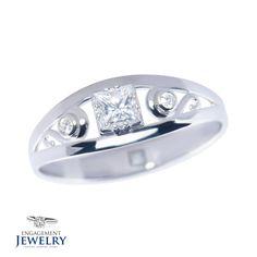 Inel cu Diamante 1 x Diamant 2 x Diamante Engagement Rings, Jewelry, Enagement Rings, Wedding Rings, Jewlery, Jewerly, Schmuck, Jewels, Jewelery