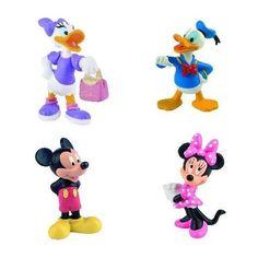 Boite 4 Figurines  - marque : Bullyland Mickey... prix : 24.98 EUR €  chez Auchan Jeux et Jouets #Bullyland #AuchanJeuxetJouets