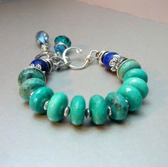 Perfect Storm with Amazonite Lapis and Silver by pmdesigns09