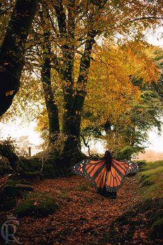 Capa de alas de mariposa Monarca para adulto por CostureroReal