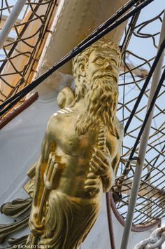 Figurehead on the Danish Full Rigger Danmark