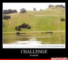 This looks kinda fun to play soccer on..