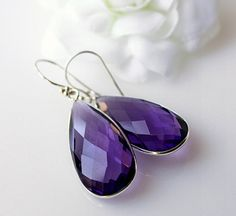 Lovely amethyst earrings  Etsy listing at https://www.etsy.com/listing/130894206/long-amethyst-sterling-earrings-genuine