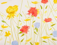 Alex Katz - Wildflowers 1, 2010 oil on linen 96 x 120 inches