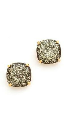 Kate Spade New York Small Square Stud Earrings. they look like gold dusted chocolate squares :) Kate Spade Earrings, Stud Earrings, Jewelry Accessories, Fashion Accessories, Christmas Gift Guide, Diamond Are A Girls Best Friend, Gifts For Women, My Style, Simple Style