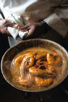 barbecue shrimp...add a dollop of Calamondin Coulis and some cajon spices...hot and sweet. YUM