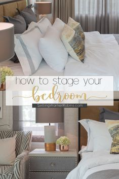 Savvy homeowner tips on how to stage a bedroom to sell your home! Home staging is important. Tips provided by Anita Clark Realtor. Home Selling Tips, New Home Checklist, Small Condo, Guest Bedrooms, Master Bedroom, Home Decor Trends, Decor Ideas, Home Hacks, Home Buying