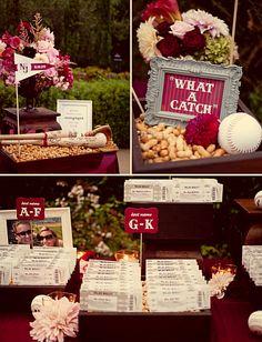 baseball themed #wedding ticket escort cards
