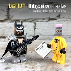 It's the LAST DAY of our 10 days of sweepstakes! Today enter to win #GlamMetalBatman & #TheEraser. We can hardly wait to watch The @Lego Batman movie tonight! HOW TO ENTER: 1) Follow @puzzlezootoys 2) Tag 2 friends 3) Answer here: name your favorite song! • • • ***U.S. only, no private accounts. Announcing 10 winners (two figures per winner) on February 11. This is in no way sponsored, administered, or associated with Instagram. By entering, entrants confirm they are 13+ years of age…