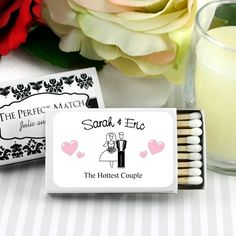 Personalized Themed Wedding Matchboxes by Beau-coup set of 50 for $37.86