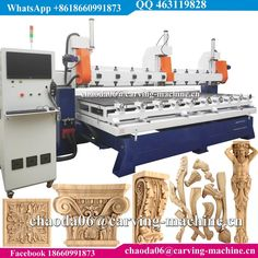 China Best 4 Axis Wood Carving Rotary Multi Spindle 3D CNC Router, Simultaneous 5 Axis Multi Head CNC Router