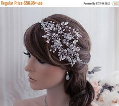 SALE Vine Hair Accessories Bridal Headband Band by EleganceByKate