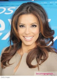 Eva Longoria Golden Hair Highlights