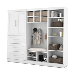 Pur by Bestar Mudroom Kit - Overstock Shopping - Great Deals on Bestar Closet Storage