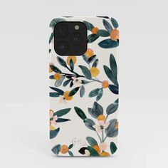 Buy Clementine Sprigs iPhone Case by Crystal W Design. Worldwide shipping available at Society6.com. Just one of millions of high quality products available. Summer Iphone Cases, Cool Iphone Cases, Halloween Horror, Happy Halloween, Give Me Butterflies, Galaxy Eyes, Modern Tropical, Retro Flowers, City Art