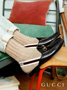9eb5b235404 Horsebit Gucci stripe slingback slipper