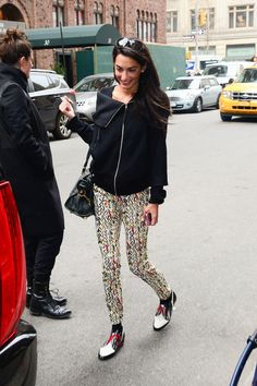 Amal Alamuddin Clooney outside her hotel in New York City - See more of her best looks on ELLE