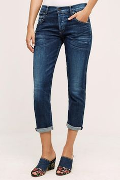 Citizens of Humanity Emerson Mid-Rise Slim Boyfriend Ankle Jeans /