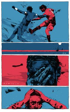 World Cup 2014 Simon Prades Illustrations Soccer Art, Football Art, Football Pitch, Football Players, Rugby Poster, Comic Layout, Sports Graphics, Comic Drawing, World Cup 2014