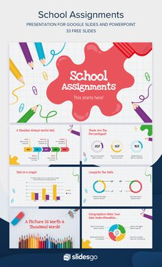 Prepare some School Assignments for your students with this cool presentation. Download it as Google Slides theme or PowerPoint template Cute Powerpoint Templates, Creative Powerpoint Presentations, Powerpoint Tutorial, Business Powerpoint Presentation, Microsoft Powerpoint, Presentation Slides, Presentation Design, Presentation Templates, Powerpoint Background Design