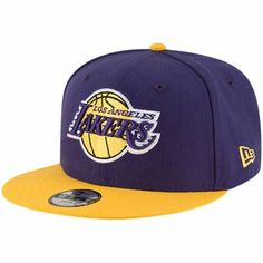 b3d3a7694e1a9 Los Angeles Lakers New Era Youth Two-Tone Snapback Adjustable Hat -  Purple Gold