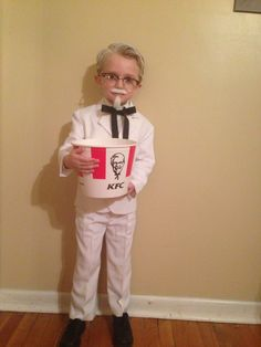 Colonel Sanders costume that I put together for my 4-year-old!
