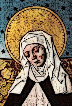 Medieval Nun Heliga Birgitta - Famous Swedish Nun who founder an Order of Nuns in Medieval Times