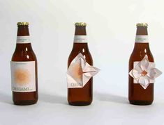 Origami Beer and other creative packaging concepts. I love the idea of giving the beer drinker something to do if they're bored or nervous on a date!!