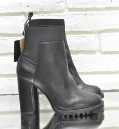 Zara High Heel Black Leather Ankle Boots with Elastic US 6 EU 36 Bootie Shoe | Clothing, Shoes & Accessories, Women's Shoes, Heels | eBay! #zara #womensshoes #coolkicks #womensboots #boots #ootn #instastyle #girlboss #etsy #ankleboots #blackleather