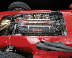 Engine photo of the 1956 Maserati 250F that won the 1956 Monaco Grand Prix driven by Stirling Moss