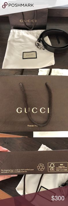 af7e5e5bb833 Men's Gucci Belt Every so slightly used 100% authentic Gucci belt. This belt  is