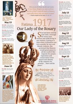 The Centenary of the Apparitions of Our Lady of Fatima – Our Lady of the Holy Rosary – 13 May 2017 Our Lady of Fátima (Portuguese: Nossa Senhora de Fátima, formally known as Our Lady of…