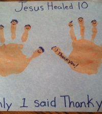Jesus Healed Ten Lepers Bible Craft