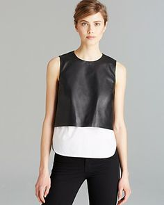 Theory Shirt - Hodal Easeful Leather | Bloomingdale's