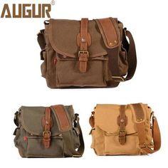 Men Canvas Causal Multi-Pocket Shoulder Bags Crossbody Bags