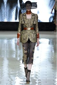 Alexander McQueen honeycomb jacquard jacket