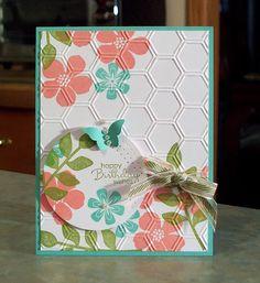 Handmade Birthday Card Stampin Up Secret Garden by WhimsyArtCards