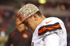 Johnny Manziel says he's living with Broncos' Von.: Johnny Manziel says he's living with Broncos' Von Miller… Johnny Manziel, Brown Image, Colin Kaepernick, High Resolution Wallpapers, Cleveland Browns, Sports News, A Team, Nfl, Career