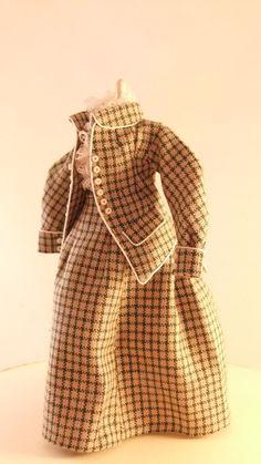 Handmade 1/12 scale Dollshouse Miniature Period Suit. $71.00, via Etsy.