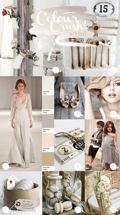 Colour Crush Chronicles - Neutral wedding ideas by Paperknots
