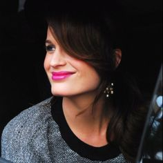 Elizabeth Reaser  Love the pink lipstick, just the right amount of color