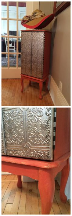 paintable wallpaper - takes your furniture up to a wow factor in a simple and inexpensive DIY