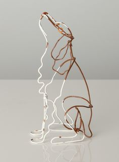 Dogs in Art at the StockBridge Gallery - Wire Sculpture of Brown Border Collie by Bridget Baker, £40.00 (http://www.dogsinart.com/products/Wire-Sculpture-of-Brown-Border-Collie-by-Bridget-Baker.html)