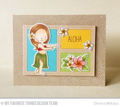 Polynesian Paradise Stamp Set and Die-namics, Blueprints 29 Die-namics, Etched Tribal Background - Donna Mikasa  #mftstamps