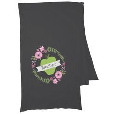Floral Wreath & Green Apple Teacher Scarf Click on photo to purchase. Check out all current coupon offers and save! http://www.zazzle.com/coupons?rf=238785193994622463&tc=pin