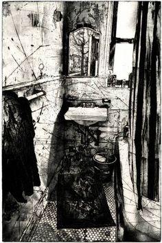 "Saatchi Art Artist Michael Goro; Printmaking, ""Mirror"" #art"