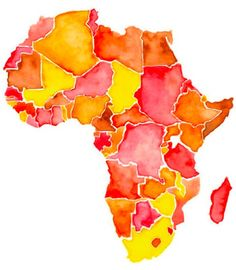 we love all things handmade at CTC, this watercolor Africa is amazing Comfort the children international.org