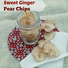How to Make Apple & Pear Chips + RECIPE for Sweet Ginger Pear Chips ...
